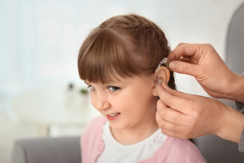 Hearing Aid on Child
